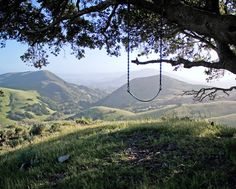 THE SERENITY SWING. Located at the top of hill on a big oak tree is the Serenity Swing in Poly Canyon. For those interested, it's a short hike just outside of San Luis Obispo in California. San Luis Obispo California, San Luis Obispo County, California Coast, California Dreamin', California Vacation, Oh The Places You'll Go, Places To Travel, Places To Visit, Adventure Is Out There