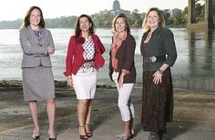 From left, Erin Wiseman, Carrie Tergin, Lisa Mankin and Mary Kay Kempker are featured on the cover of #jcmo Inside Business for fall 2015. They're four of 15 Jefferson City area business women profiled in the 15 in '15 feature   News Tribune