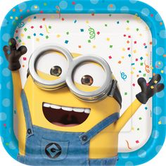 Despicable Me plates   Minions birthday party   Minions party supplies