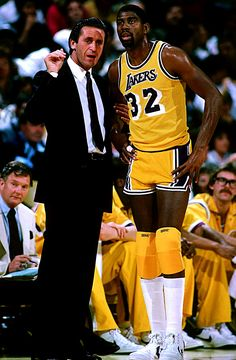 Pat Riley & Magic Johnson - (The Beginning of a remarkable championship run....) #adecadeofexcellence