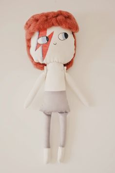 custom doll, david bowie rag doll, muñeco personalizado, retrato de tela