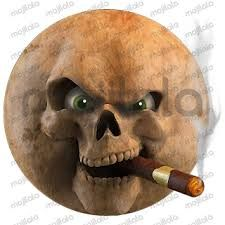 Résultats de recherche d'images pour «devil skull smoke cigar»