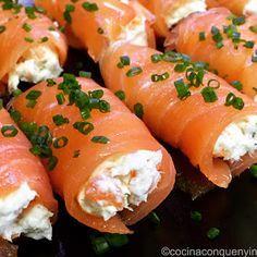 Cocina con Quenyin: Salmón ahumado relleno de brandada de bacalao