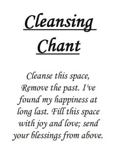 Simple Cleansing Chant