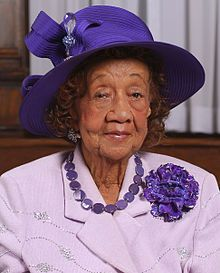 Dorothy Height is a women's rights activist, a civil rights activist and championed specifically  issues facing African-American women, including unemployment, illiteracy, and voter awareness.  She was President of the National Council of Negro Women for 40 years and went on to receive the Presidential Medal of Freedom from President Clinton in 1994. In 2008, she joined President Obama on stage at his inauguration. More here: http://en.wikipedia.org/wiki/Dorothy_Height