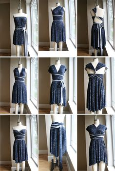 Amazingly simple DIY dress// Ever heard of the infinity scarf? Here is the infinity dress! Diy Clothing, Sewing Clothes, Clothing Patterns, Dress Patterns, Sewing Patterns, Diy Dress, Dress Skirt, Wrap Dress, Vestido Convertible
