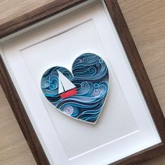 Quill Nautical Heart – Love art – Paper Heart for him Quilling Sea lovers Heart – Valentine's Day Love Art – Original quilling design – Paper Heart for Paper Quilling Cards, Arte Quilling, Paper Quilling Patterns, Quilled Paper Art, Quilling Craft, Quilling Ideas, Thoughtful Gifts For Him, Diy Gifts For Him, 3d Paper Art
