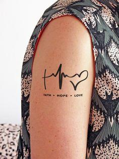 Tattoos - Fe, Esperanza y Amor - Tatuaje temporal - hecho a mano en DaWanda.es