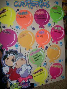 abecedario letras timoteo - Buscar con Google Preschool Arts And Crafts, Craft Stick Crafts, Preschool Activities, Crafts To Make, Crafts For Kids, Birthday Wall, Birthday Board, Birthday Charts, Bookmark Craft