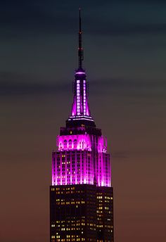 The @Donna Linda State Building is pretty in purple. #NYC