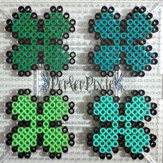 Four Leaf Clovers by PerlerPixie.deviantart.com on @DeviantArt