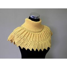 Yellow Sunflower Hand knitted Collar, Shawl, Women Infinity Scarf,... (8.450 ISK) ❤ liked on Polyvore featuring accessories and scarves