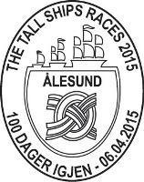 Sonderstempel norwegische Post Großsegler-Rennen Alesund