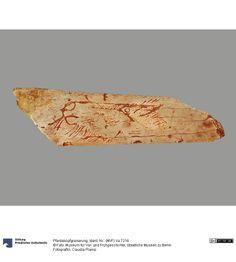 Pferdekopfgravierung jüngere Altsteinzeit, 18.000 - 12.000 v. Chr. Fundort: Lalinde, Dep. Dordogne, Frankreich