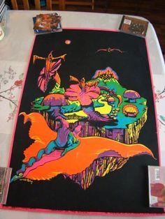 #Vintage 60s Black Light Poster 1968 DREAM MERCHANTS Season of the Witch