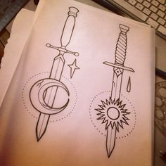 New tradicional tattoos - dagger draw, dagger tattoo More