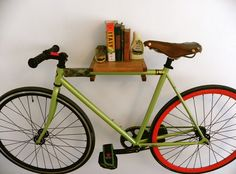 New bike storage apartment space saving shelves Ideas Urban Bike, Urban Cycling, Bike Storage Apartment, Indoor Bike Rack, Bike Storage Solutions, Storage Ideas, Storage Systems, Space Saving Shelves, Bike Shelf
