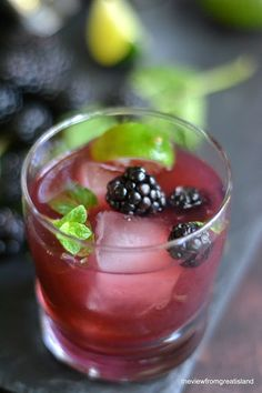 Blackberry Mojito - via The View from Great Island