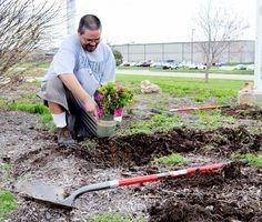 #earthday #earth #plant #flowers #green #gogreen #shovel #garden #gardening #grandstand #egrandstand #behindthescenes #grandstandglassware