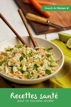 Nouvelle année, nouvelles recettes santé! Essayez cette salade de chou crémeuse à l'avocat! Coleslaw, Chou Napa, Avocados From Mexico, Vegetarian Cabbage, Napa Cabbage, Chinese Cabbage, Latest Recipe, Rice Vinegar, Home Recipes