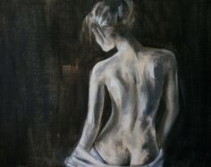 Giclee Print 13 x 16 inches - original figure painting of a standing nude female by Meredith O'Neal