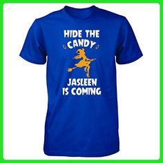 Hide The Candy Jasleen Is Coming Halloween Gift - Unisex Tshirt Royal 2XL - Holiday and seasonal shirts (*Amazon Partner-Link)