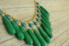 green + turquoise necklace