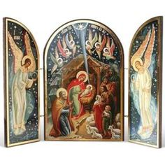 Nativity at Night Icon Triptych