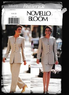 Butterick 3849 Misses Front Overlay Jacket Skirt by OutoftheConex
