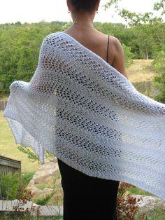 Prayer Shawl Crochet Pattern, Prayer Shawl Patterns, Crochet Prayer Shawls, Knitted Shawls, Lace Knitting, Crochet Shawl, Knit Crochet, Crochet Patterns, Moda Emo