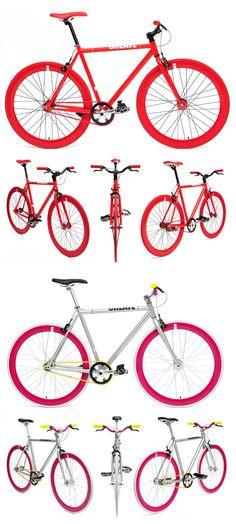 A empresa londrina Create Bikes, desenvolve bicicletas que se destacam pelas suas combinações de cores. São montadas com câmbio fixo, induzindo a premissa de que assim o ciclista desenvolve uma conexão maior da bike com o asfalto. ;-) O preço médio de cada bike é de 370,00 Euros.        ...
