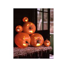 Halloween Pumpkin Carving and Decorating Ideas found on Polyvore