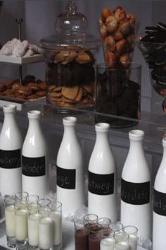 Flavored Milk Bar using Chalkboard Bottles