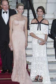 Prince Albert, Princess Charlene, and Princess Caroline