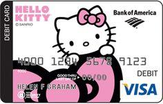 Bank of America x Hello Kitty Debit Card #HelloKitty