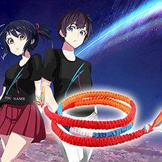 Kimi No Na Wa Your Name Miyamizu Mitsuha Bracelet Chain Rope Cosplay Lovers Gift Kimi No Na Wa, Gift For Lover, Lovers Gift, Cosplay, Your Name, Names, Chain, Gifts, Ebay