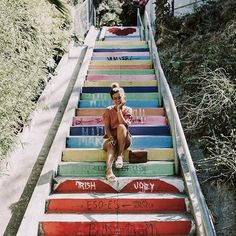 Silver Lake most photogenic stairs ❤️ #collageontheroad