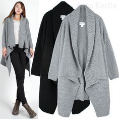 Slub Cascade Cardigan Sweater | Cardigan | Pinterest | Moda and ...