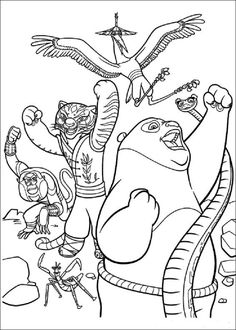 Kung Fu Panda 2 Coloring Pages Check More At Coloringareas