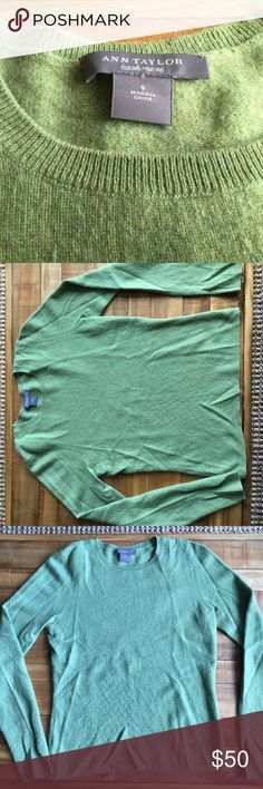 **Green Cashmere Sweater** Ann Taylor __S___ **Green Cashmere Sweater** Ann Taylor __S___  <<<Preowned. Great Condition>>> Ann Taylor Sweaters Crew & Scoop Necks