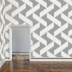 Overscale Accent Wallpaper   Ash