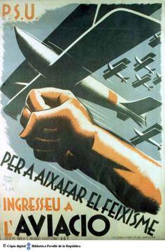 """""""Per a aixafar el feixisme ingresseu a l'aviació"""" Courtesy of the University of Barcelona (http://www.ub.edu). (Rights Reserved - Free Access) http://www.europeana.eu/portal/record/91944/C653FE57CB1DB8CF0FC8C8FF73ACC13EC751B5D2.html"""