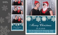 5HOL These elegant snowflakes make for a lovely holiday #graphic. #photobooth  imagecinema.com