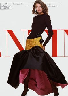 Valentino ad 1987 feat Linda Evangelista