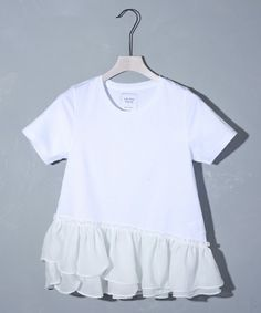 UNITED TOKYO WOMENS(ユナイテッドトウキョウウィメンズ)のアシメヘムフレアTシャツ(Tシャツ/カットソー)|ブラック