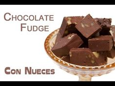 ▶ Fudge de Chocolate con Nueces - YouTube