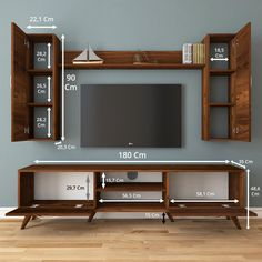 Tv Unit Interior Design, Tv Unit Furniture Design, Tv Wall Design, Tv Cupboard Design, Wooden Front Door Design, Modern Tv Wall Units, Tv Unit Decor, Living Room Tv Unit Designs, Home Decor Shelves