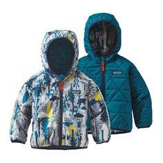 Manteau réversible Puff-Ball Amis des pins/Bleu épique