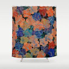 Flower carpet(30). Shower Curtain   #ShowerCurtain society6.com/... #showercurtains #society6 #navi #elegant #purple #romantic #bathroom #textile #homedesign #life #blue #orange #gold