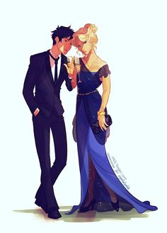 Celaena and Dorian<-- I am sorry young mortal although I have read the Throne of Glass, this is PERCABETH